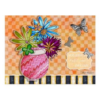 Ernähren Sie und erfüllen Sie Ihre Traum-Postkarte Postkarte