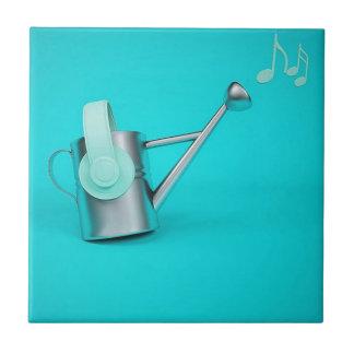 Ernährung von Musik Kleine Quadratische Fliese