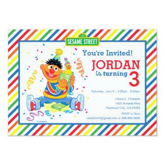 Ernie a barré l'anniversaire carton d'invitation  12,7 cm x 17,78 cm