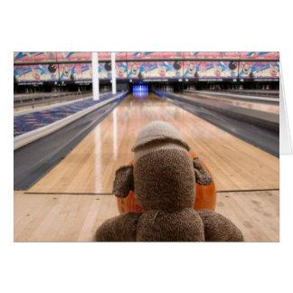Ernie die Socken-Affe-Bowlings-Anmerkungs-Karte Karte
