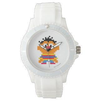 Ernie Pixel-Kunst Uhr