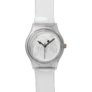 Ernste Dackel-Uhr Uhr