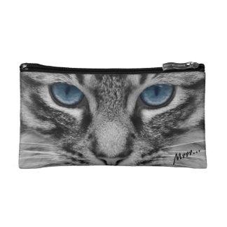 Ernste Katze mit blauem Eys kundengerecht Kosmetiktasche