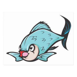 Ernste riesige Barb-Fische Postkarte
