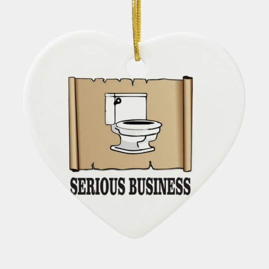 ernster Geschäftsspaß Keramik Herz-Ornament