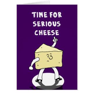 Ernster Käse Grußkarte