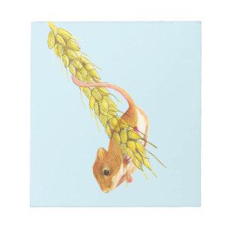Ernte-MäuseWasserfarbe-Malerei-Grafik-Geschenke Notizblock