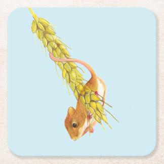 Ernte-MäuseWasserfarbe-Malerei-Grafik-Geschenke Rechteckiger Pappuntersetzer