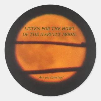 Ernte-Mond-Aufkleber - Grasland-Meilen-Reihe Runder Aufkleber