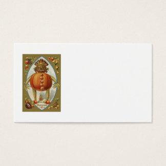 Ernte-Puppen-Kürbis-Apple-Birnen-Mais-Traube Visitenkarte