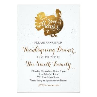 Erntedank-Abendessen geben Dank-Einladung Karte