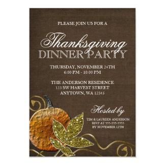 Erntedank-Abendessen-Party Karte