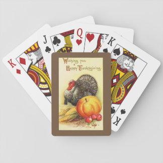 Erntedank die Türkei Spielkarten