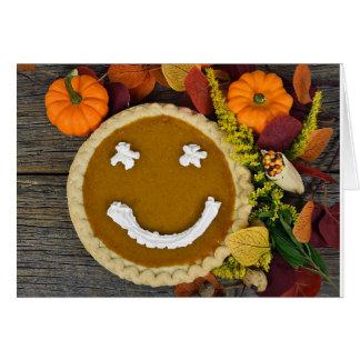 Erntedank-glückliche Kürbis-Torte Karte