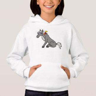 Erntedank-graues Pferd mit die Türkei-Federn Hoodie