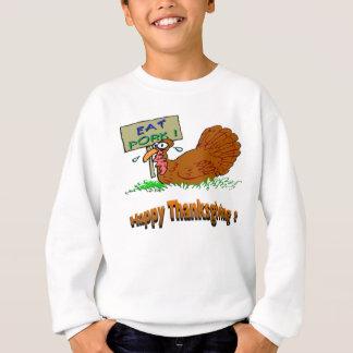 Erntedank isst Schweinefleisch Sweatshirt