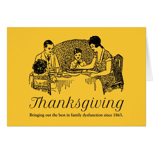 Erntedank-lustige Familien-Abendessen Karte