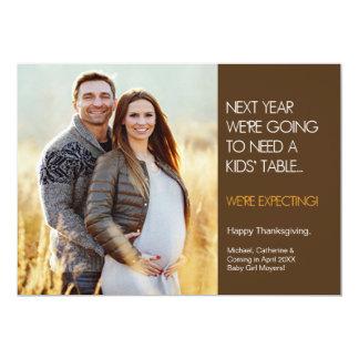 Erntedank-Schwangerschafts-Mitteilungs-Karte 12,7 X 17,8 Cm Einladungskarte