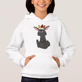 Erntedank-schwarzes Kaninchen mit indischem Hoodie