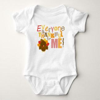 Erntedank-Shirt, dankbar für mich, die Baby Strampler