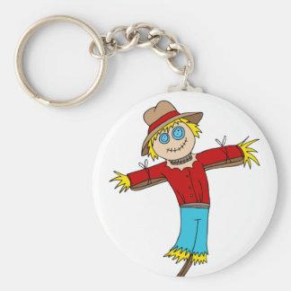 Erntedank-Vogelscheuche-Cartoon-Charakter Schlüsselanhänger