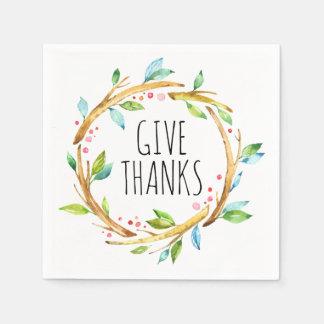 ErntedankWreath u. geben Dank-Schablone Serviette