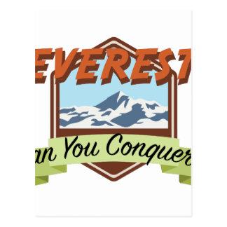 Erobern Sie Everest Postkarte