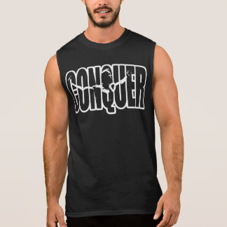 EROBERN Sie (Körper-Gebäude Motivation) Ärmelloses Shirt