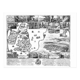Eroberungen von Gustavus II Adolphus Postkarte