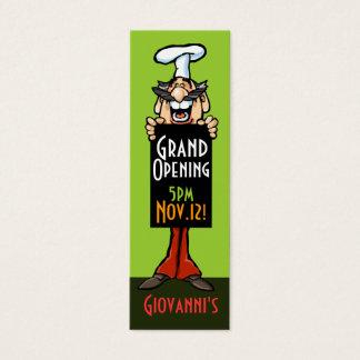 Eröffnungsmitteilungs-Kartenschablone Mini Visitenkarte