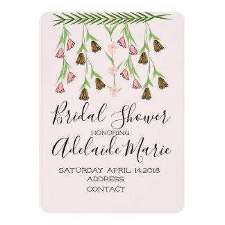 Erröten Blumen-Brautpartyentwurf 2 Karte