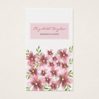 Erröten BlumenVisitenkarten Visitenkarte