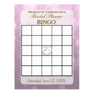 Erröten Bokeh   Bingo-Karte Postkarten