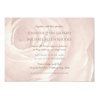 erröten einfache elegante Hochzeitseinladung der 12,7 X 17,8 Cm Einladungskarte