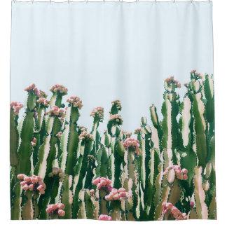 Erröten Kaktus Duschvorhang