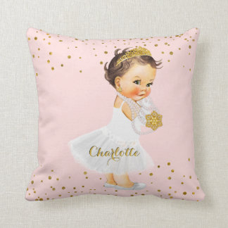 Erröten rosa Baby-Mädchen-Name Zierkissen