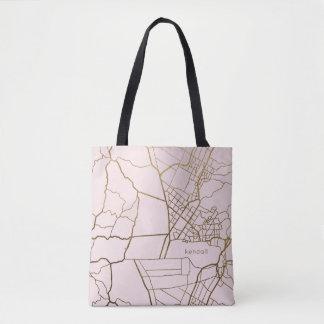 Erröten Rosa mit Goldblick-Karte addieren Namen Tasche