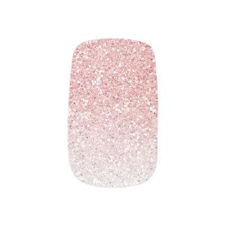 Erröten rosa Rosen-GoldOmbre Glitter Minx Nagelkunst