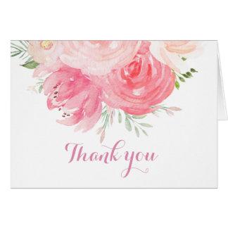erröten Sie mit Blumen danken Ihnen zu kardieren Karte