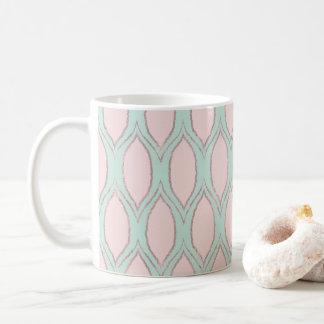 Erröten Sie und Mint modernes geometrisches Muster Tasse
