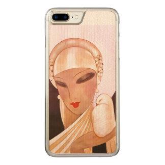 Errötende Braut-Vintage Kunst-Deko-Illustration Carved iPhone 8 Plus/7 Plus Hülle