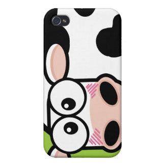 Errötende Kuh auf Grün iPhone 4/4S Hülle
