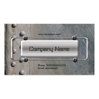 Erscheinungsbild Chrome Silver Grey Metal Company Visitenkartenvorlagen