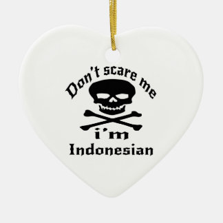 Erschrecken Sie mich nicht, den ich indonesisch Keramik Herz-Ornament