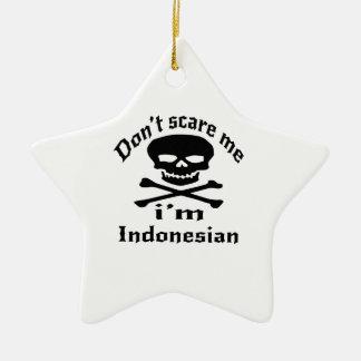 Erschrecken Sie mich nicht, den ich indonesisch Keramik Stern-Ornament