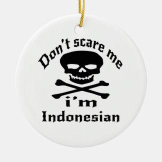 Erschrecken Sie mich nicht, den ich indonesisch Rundes Keramik Ornament