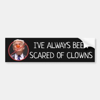 Erschrocken von Clowns-Antidonald- Autoaufkleber