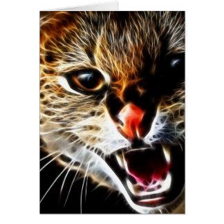 Erschrockene Katzenmalerei Karte
