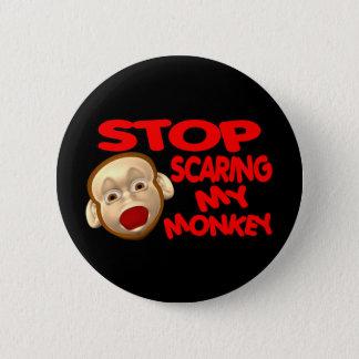 Erschrockener Affe Runder Button 5,1 Cm