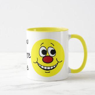 Erschrockener Smiley Grumpey Tasse